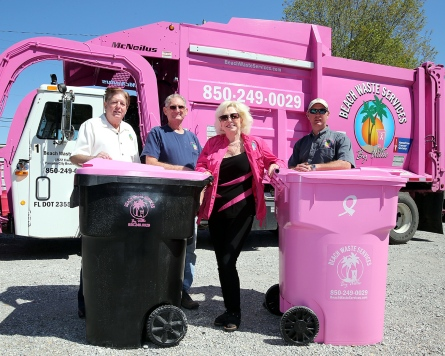 Beach Waste Services - Breast Cancer Awareness Month - Waste and Recycling Workers Week