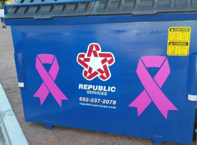Republic Services - Pink Ribbons - Waste and Recycling Workers Week