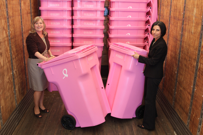 The Pink Cart - Breast Cancer Awareness Month - Waste and Recycling Workers Week