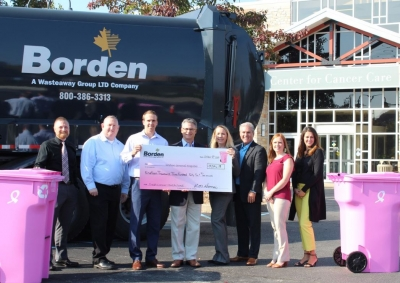 Borden Waste-Away delivers check to Goshen Health Foundation